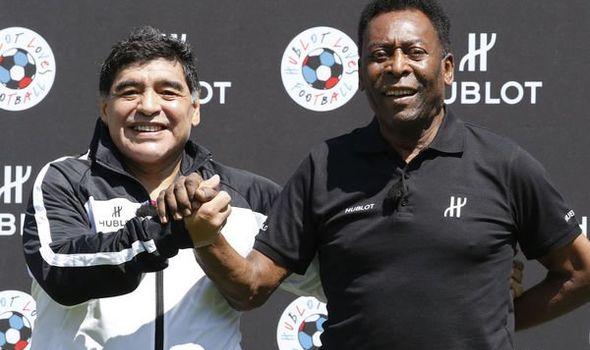 Diego Maradona dead: Brazil legend Pele pays tribute to Argentina great | Football | Sport | Express.co.uk