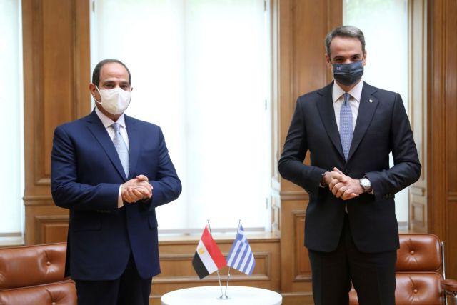 Ζωντάνα οι δηλώσεις του Κυριάκου Μητσοτάκη και του Αιγύπτιου προέδρου Αλ Σίσι