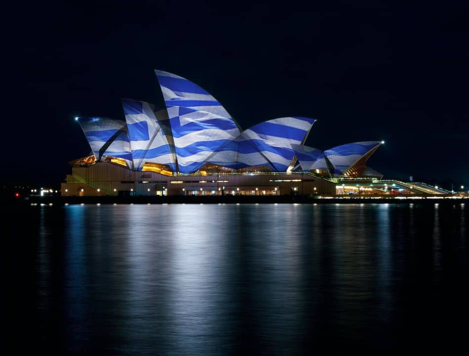 Greek Flag will be projected onto the Opera House on the 25th of March 3